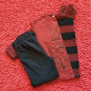 Children's Place Fleece Pants/Pullove 3 Piece Set
